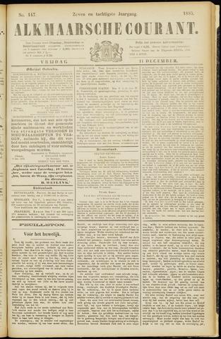 Alkmaarsche Courant 1885-12-11