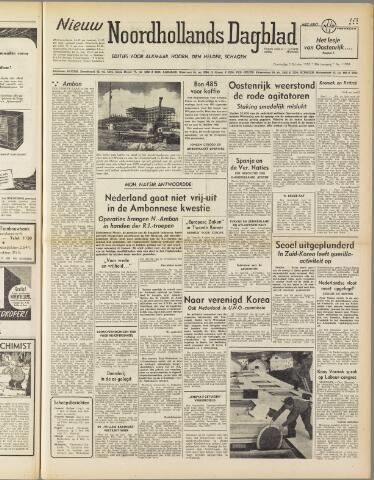 Nieuw Noordhollandsch Dagblad : voor Alkmaar en omgeving 1950-10-05