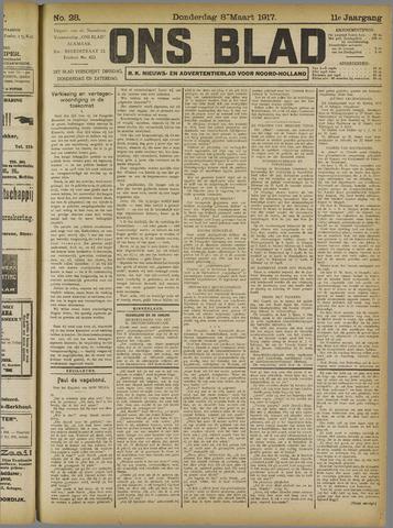 Ons Blad : katholiek nieuwsblad voor N-H 1917-03-08