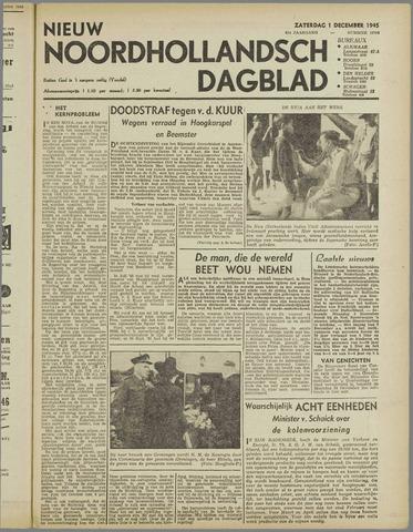 Nieuw Noordhollandsch Dagblad : voor Alkmaar en omgeving 1945-12-01