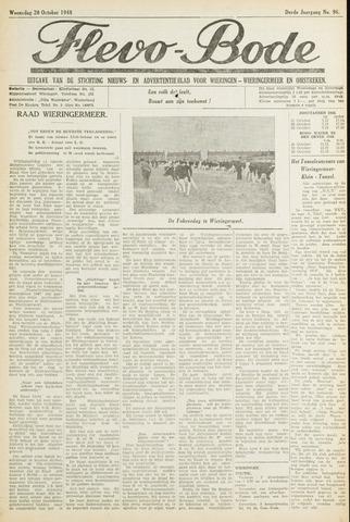 Flevo-bode: nieuwsblad voor Wieringen-Wieringermeer 1948-10-20