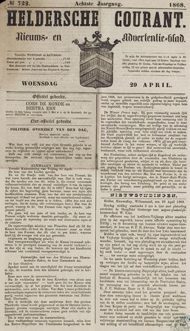 Heldersche Courant 1868-04-29