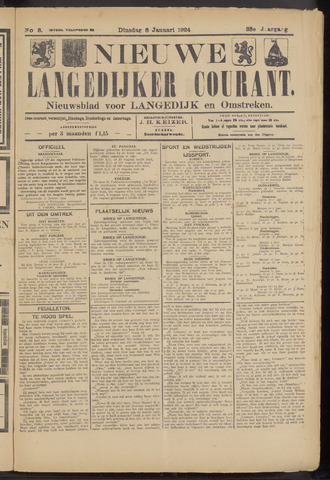 Nieuwe Langedijker Courant 1924-01-08