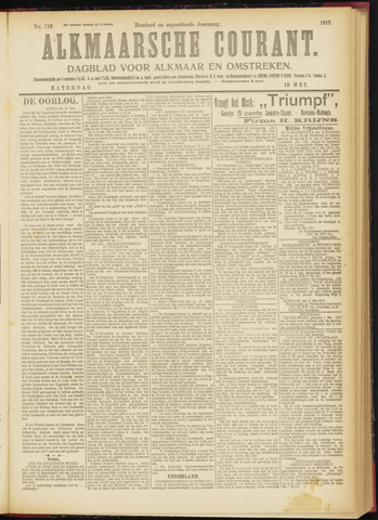 Alkmaarsche Courant 1917-05-19