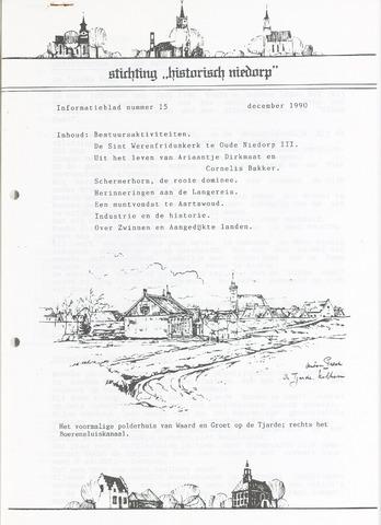 Informatieblad stichting Historisch Niedorp 1990-12-01