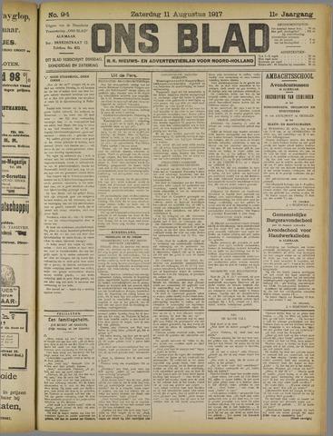 Ons Blad : katholiek nieuwsblad voor N-H 1917-08-11