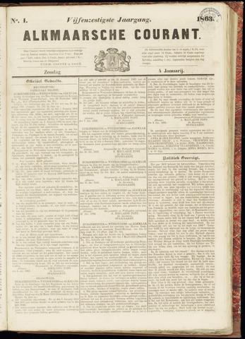 Alkmaarsche Courant 1863-01-04
