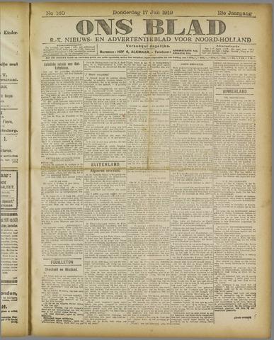 Ons Blad : katholiek nieuwsblad voor N-H 1919-07-17