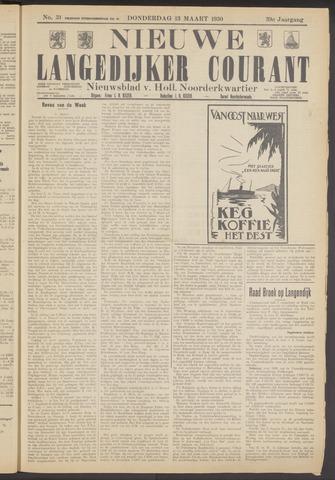 Nieuwe Langedijker Courant 1930-03-13