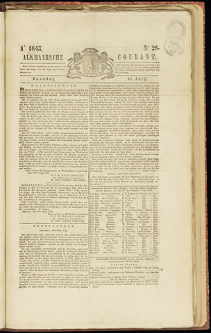 Alkmaarsche Courant 1845-07-14