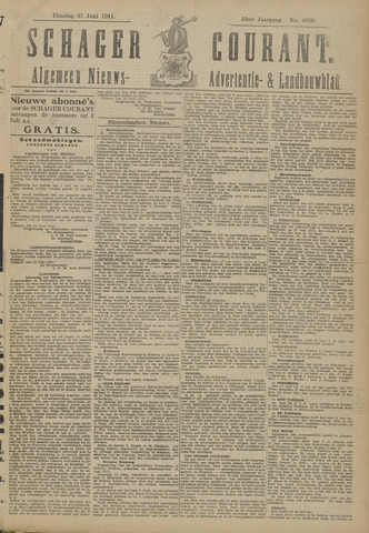 Schager Courant 1911-06-27