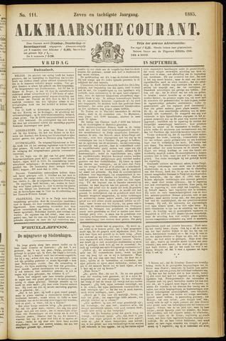 Alkmaarsche Courant 1885-09-18