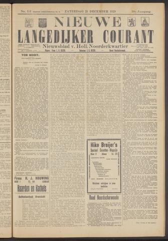 Nieuwe Langedijker Courant 1929-12-21