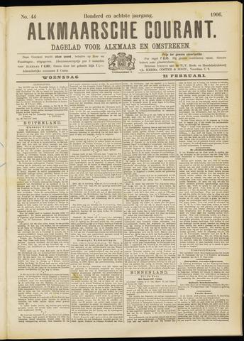 Alkmaarsche Courant 1906-02-21