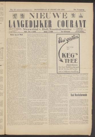 Nieuwe Langedijker Courant 1930-02-27