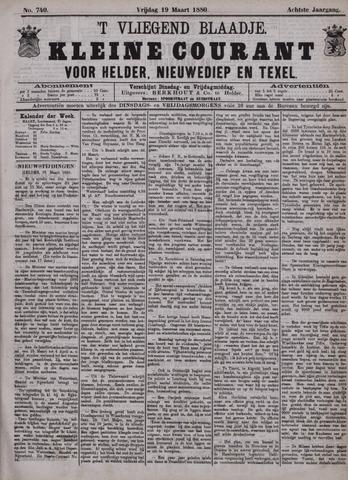 Vliegend blaadje : nieuws- en advertentiebode voor Den Helder 1880-03-19