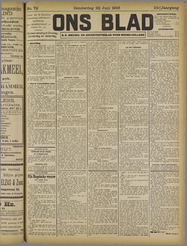 Ons Blad : katholiek nieuwsblad voor N-H 1916-06-22