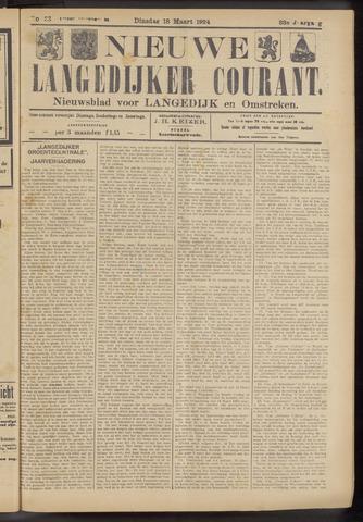 Nieuwe Langedijker Courant 1924-03-18