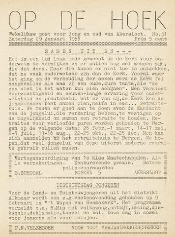 Op De Hoek, weekblad voor Akersloot 1955-01-29