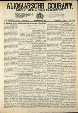 Alkmaarsche Courant 1937-10-01