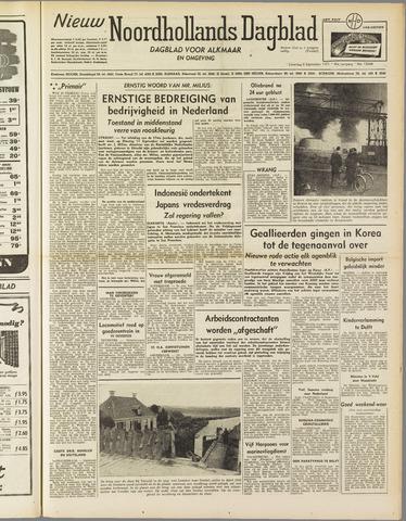 Nieuw Noordhollandsch Dagblad : voor Alkmaar en omgeving 1951-09-08