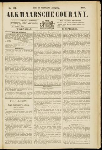 Alkmaarsche Courant 1886-09-15