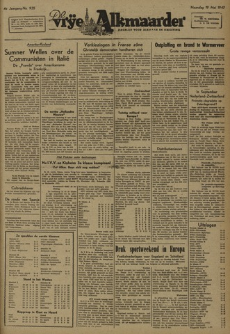 De Vrije Alkmaarder 1947-05-19