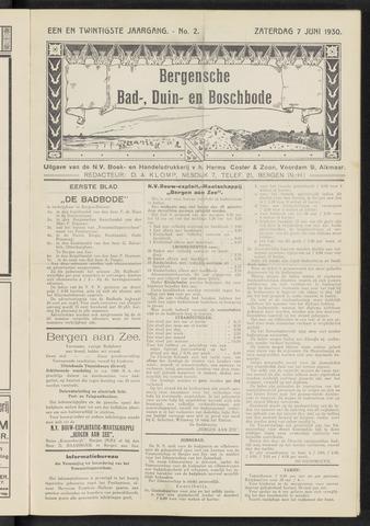 Bergensche bad-, duin- en boschbode 1930-06-07