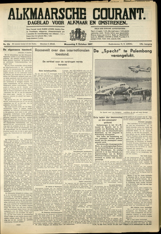 Alkmaarsche Courant 1937-10-06