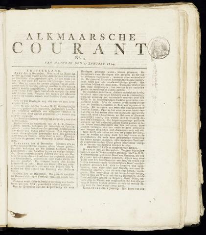 Alkmaarsche Courant 1814-01-17
