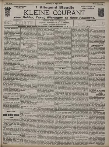 Vliegend blaadje : nieuws- en advertentiebode voor Den Helder 1909-04-14