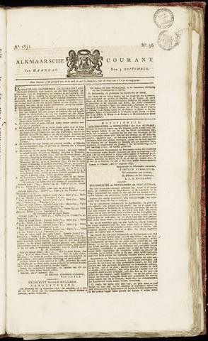 Alkmaarsche Courant 1831-09-05