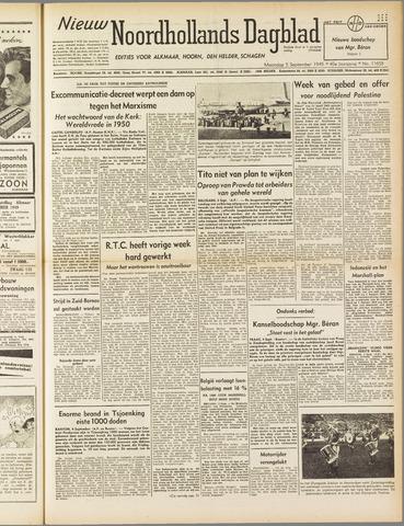 Nieuw Noordhollandsch Dagblad : voor Alkmaar en omgeving 1949-09-05