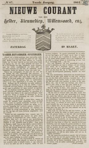 Nieuwe Courant van Den Helder 1862-03-29