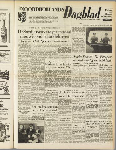 Noordhollands Dagblad : dagblad voor Alkmaar en omgeving 1954-11-24