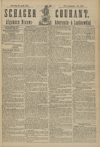 Schager Courant 1911-04-29