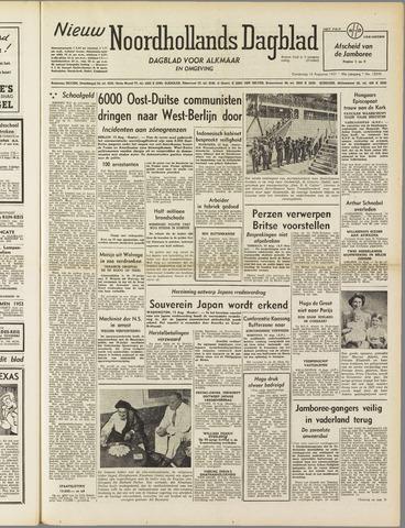Nieuw Noordhollandsch Dagblad : voor Alkmaar en omgeving 1951-08-16