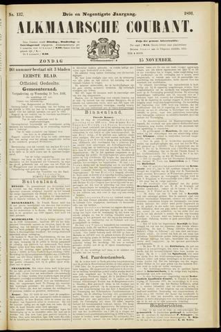 Alkmaarsche Courant 1891-11-15