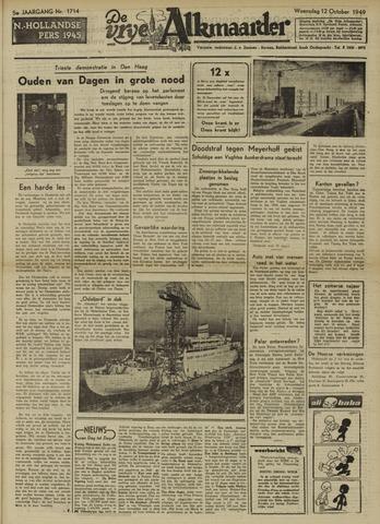 De Vrije Alkmaarder 1949-10-12