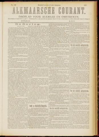 Alkmaarsche Courant 1915-05-25