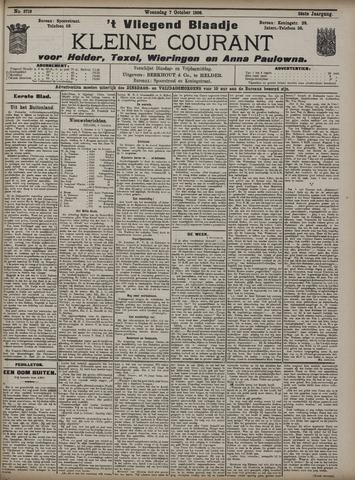 Vliegend blaadje : nieuws- en advertentiebode voor Den Helder 1908-10-07