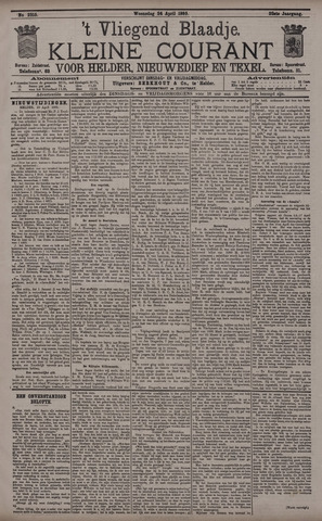 Vliegend blaadje : nieuws- en advertentiebode voor Den Helder 1895-04-24