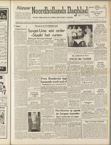 Nieuw Noordhollandsch Dagblad : voor Alkmaar en omgeving 1950-08-05
