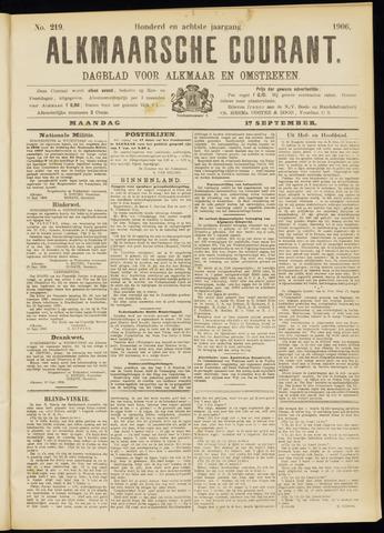 Alkmaarsche Courant 1906-09-17