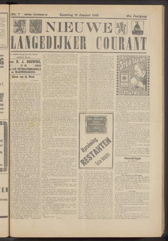 Nieuwe Langedijker Courant 1926-01-16