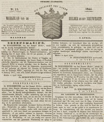 Weekblad van Den Helder en het Nieuwediep 1844-04-08