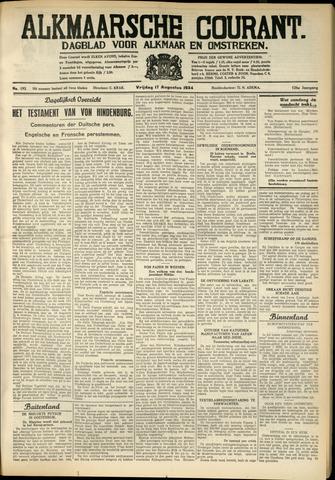 Alkmaarsche Courant 1934-08-17