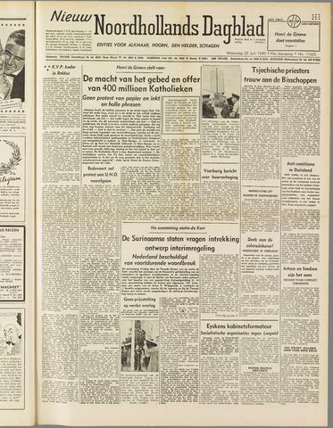 Nieuw Noordhollandsch Dagblad : voor Alkmaar en omgeving 1949-07-25