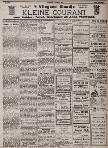 Vliegend blaadje : nieuws- en advertentiebode voor Den Helder 1903-01-01
