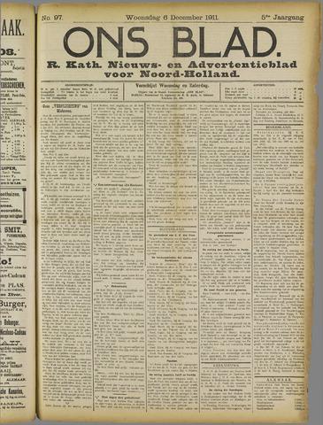 Ons Blad : katholiek nieuwsblad voor N-H 1911-12-06